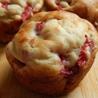 Strawberry Banana Greek Yogurt Muffins