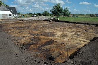 Photo: Det nye stuehus incl. terasse rømmet af 30/6 2008.