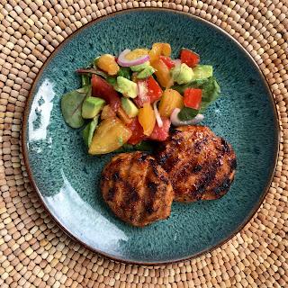 Chicken BBQ Ranch Sliders & Tomato Salad