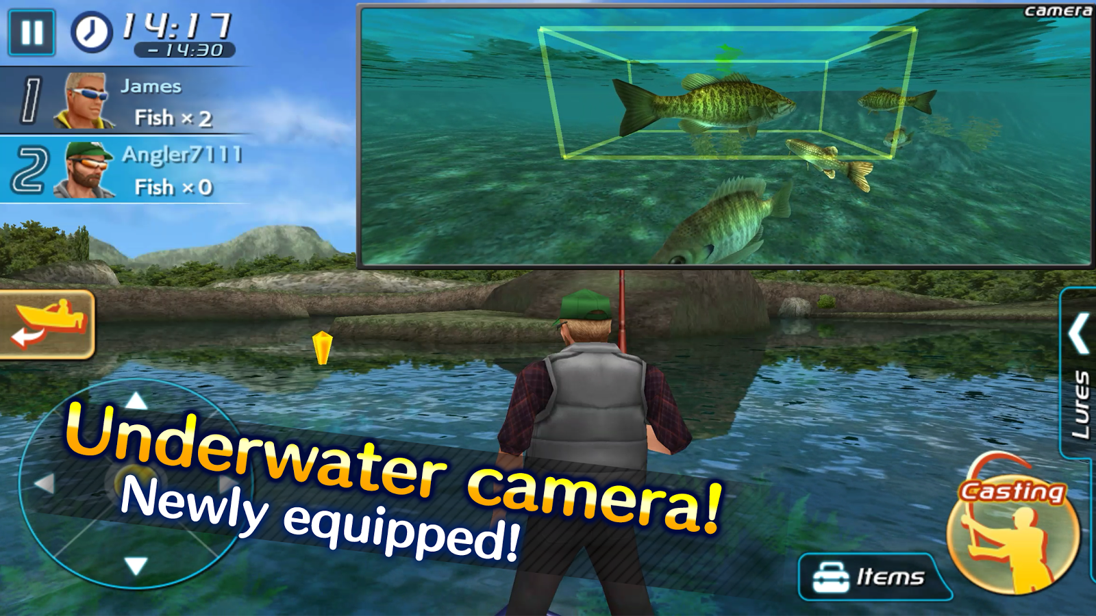 Bass fishing 3d ii android apps on google play for Fishing game android