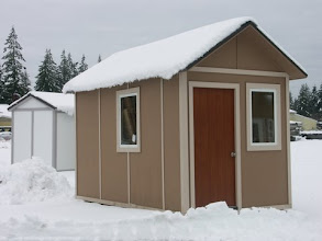 Photo: Stay warm and dry in this Tiny House with insulated, thin sandwich panel walls.