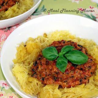 Spaghetti Squash with Chunky Roasted Bell Pepper Sauce Recipe