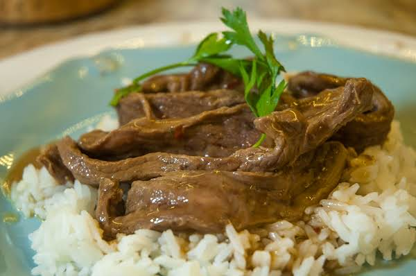 Yummy Asian Sliced Beef On Rice Or Noodles Recipe