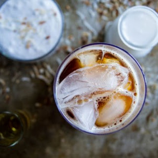 Creamy Coconut Iced Rum Coffee.