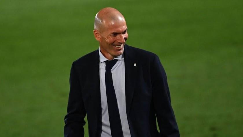 Zidane celebra el título de Liga.