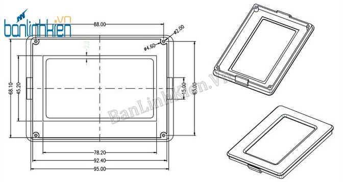 Mặt Nhựa LCD12864