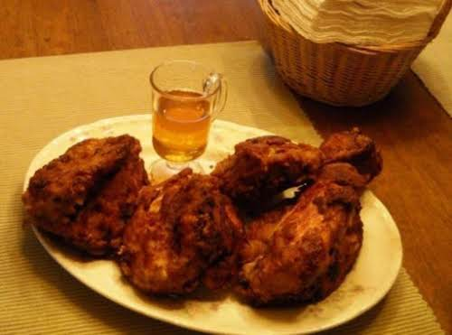 """Buttermilk Fried Chicken with Spicy Honey Dizzle """"Our go to fried chicken..."""