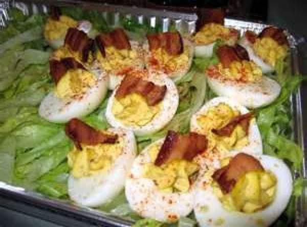 Deviled Eggs Extraordinaire W/bacon