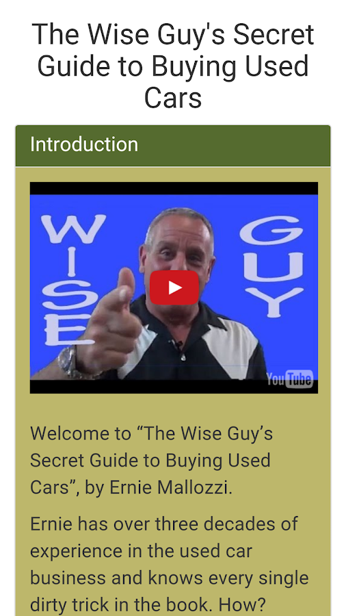 Wise Guy's Used Car Guide- screenshot