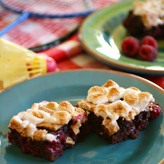 S'mores-n-berry Bars for National S'mores Day - August 10
