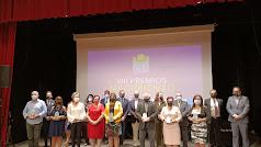 Foto de familia de ganadores y organizadores de los VIII Premios Nacimiento, entregados en una gala celebrada en Gérgal.