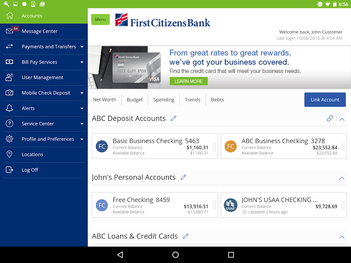 First Citizens Mobile Banking- screenshot