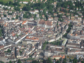 Photo: The city of St. Gallen with its Abbay http://www.swiss-flight.net