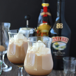 Irish Coffee with Baileys and Kahlua.