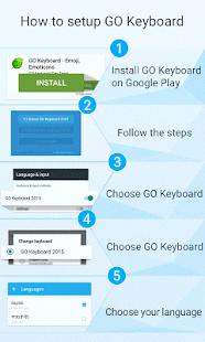 GO Keyboard Ink theme- screenshot thumbnail