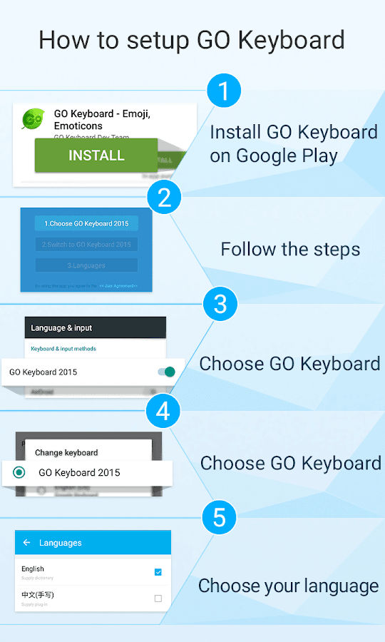 GO Keyboard Ink theme- screenshot