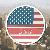 America USA Flag Watch Face