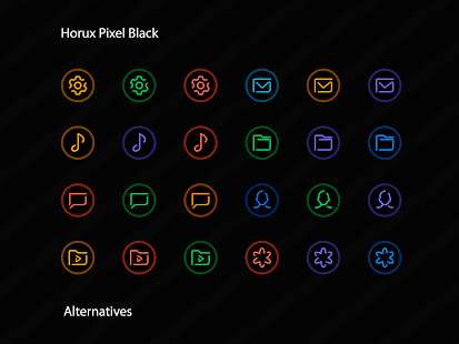 Horux Black - Pixel Icon Pack Screenshot