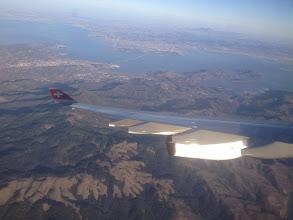 Photo: Flying home. San Rafael