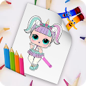 coloring for dolls icon