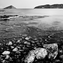 Photo: triangle, curve, boulder and pebble  Porto Rafti again (well, it's easy to reach and since I don't have a car right now that's important, plus I LOVE that triangular little island at the horizon). last Sunday after sunset personal record in LE (481 sec => 8 min) ..not that it was absolutely required by the circumstances, but I wanted to prove myself that it can be done (and challenge +Joel Tjintjelaar with his loooooooong 6 minutes in his beautiful selfie :)) - https://plus.google.com/107742567767125793693/posts/F6baLcgjABu (you don't want to know the amount of fried pixels I had to deal with after 8 min of exposure!!!)  note to self: LE can be very addictive  for #BWFineArtLE curated by +Joel Tjintjelaar  #LongExposureThursday curated by +Francesco Gola & +Le Quoc  #ThirstyThursday curated by +Giuseppe Basile & +Mark Esguerra