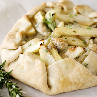 Rustic Pear and Blue Cheese Tart.