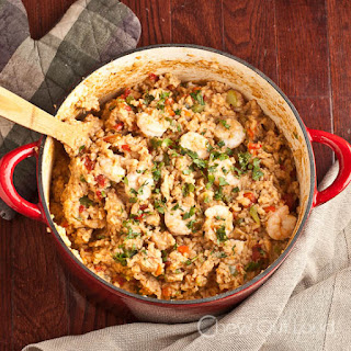 Mexican Rice with Chicken and Shrimp.