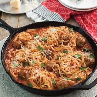 Skillet Spaghetti and Meatballs.
