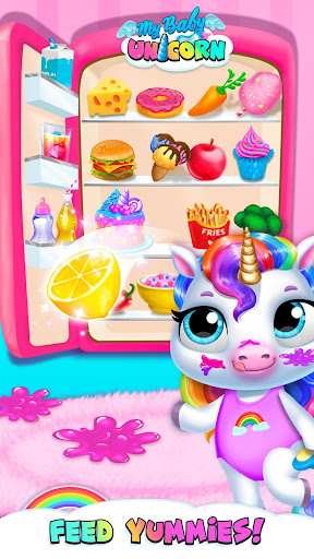 My Baby Unicorn - Virtual Pony Pet Care & Dress Up android2mod screenshots 3