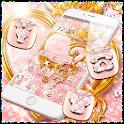 Pink Glitter Gold Heart Luxury Theme icon