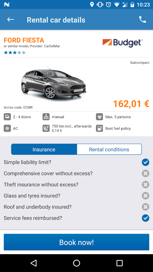 HAPPYCAR - compare car rental- screenshot