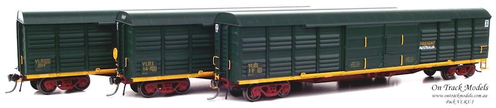 Photo: Pack VLRX-1 - Freight Australia VLRX 1V, VLRX 14K, & VLRX 20F