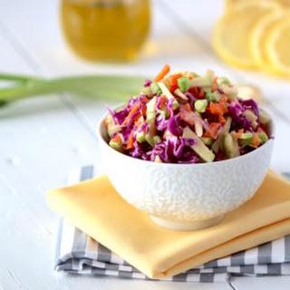 Ginger Cabbage Detox Salad + Lemon Tahini Dressing.
