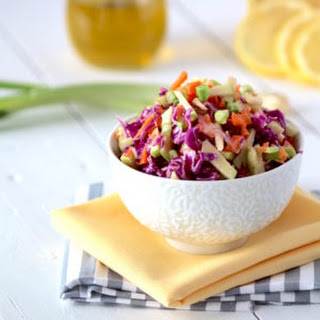 Ginger Cabbage Detox Salad + Lemon Tahini Dressing.