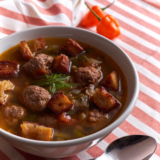 Lamb and Lentil Soup with Habanero.