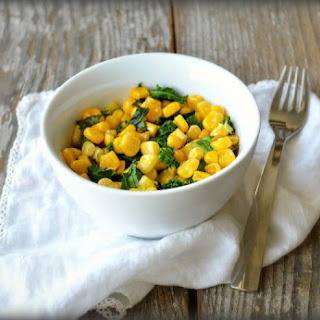 Corn with Kale and Fresh Herbs