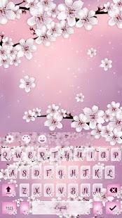 Cherry Blossom Keyboard Theme - náhled