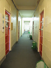 Photo: Hallway in one of the office wings in Bredon Building