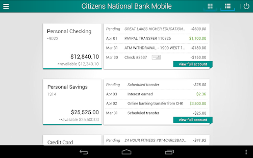 Citizens National Bank Mobile- screenshot thumbnail