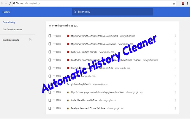 Chrome History Cleaner