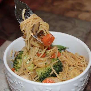 Chicken & Veggie Noodle Dish (aka Chow Mein)