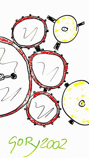 Paper drum child bateria