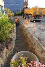 Photo: Tranchée écoulement des eaux pluviales (Visite de chantier 2 Oct. 2014)