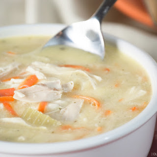 "Creamy Chicken ""Noodle"" Soup"