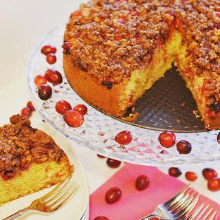 Fresh Cranberry and Brown Sugar-Pecan Streusel Cake