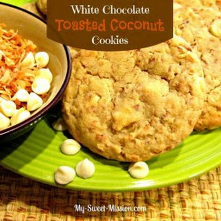 White Chocolate Toasted Coconut Cookies