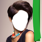 Woman Short Hair Photo Montage