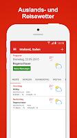 Screenshot of WetterService Plus