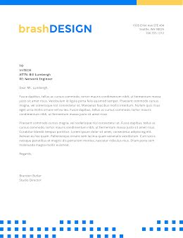 Brash Design - Letterhead item