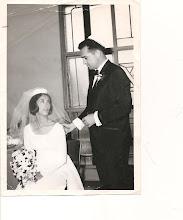 Photo: Mom & Dad on their Wedding Day